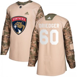 Chris Driedger Florida Panthers Adidas Authentic Veterans Day Practice Jersey (Camo)