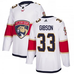 Christopher Gibson Florida Panthers Adidas Youth Authentic Away Jersey (White)
