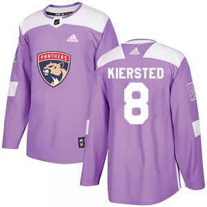 Matt Kiersted Florida Panthers Adidas Authentic Fights Cancer Practice Jersey (Purple)