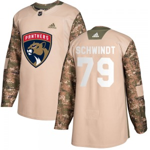 Cole Schwindt Florida Panthers Adidas Youth Authentic Veterans Day Practice Jersey (Camo)